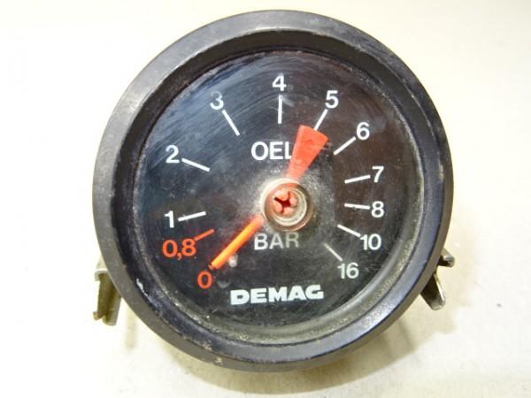 Öldruckmesser von Demag für Kompressor LKW oder Traktor