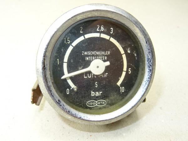 Luftdruckmesser von VDO für Zwischenkühler - 10 Bar