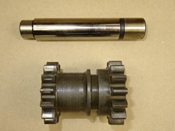 Doppelzahnrad + Achse 225 100 080 011 für Getriebe vom Fendt GT F 230 GT 225 Geräteträger Traktor