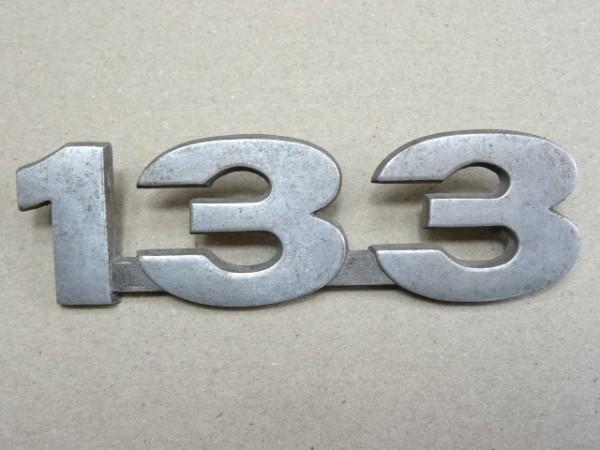 """Schriftzug Emblem """" 133 """" (kein Nachbau) für Porsche Diesel P133 P 133 Traktor"""